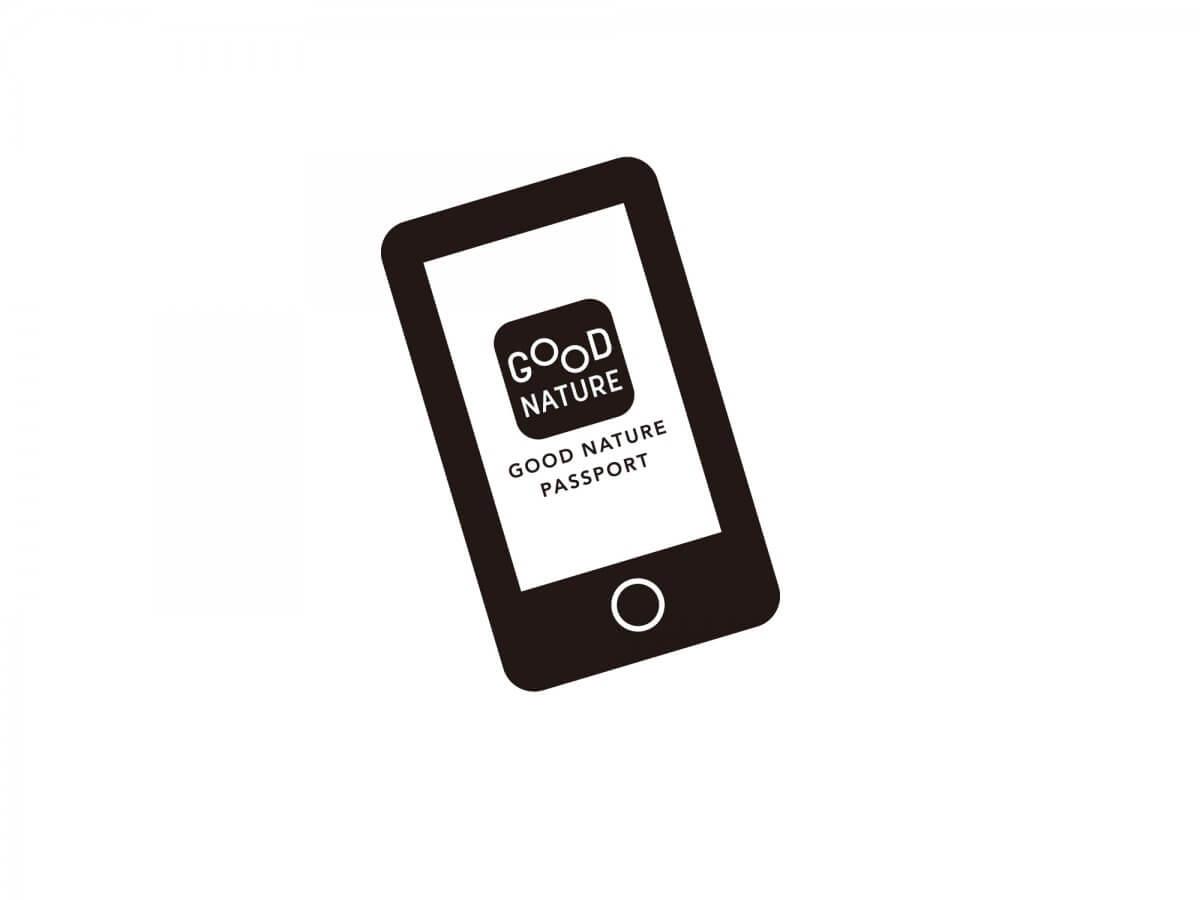 "The official app ""GOOD NATURE PASSPORT"" is even more convenient!"
