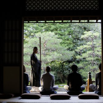 Zazen experience at Ryoshoin 《March held》